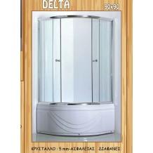 Καμπίνες Πλήρεις με Ντουζιέρα Gloria Delra: 90x90x200h