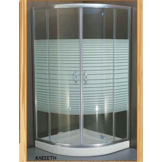 Μπανιο - Καμπίνες Μπάνιου - Διαχωριστικά Μπανιέρας - Καμπίνα Ημικυκλική με γραμμές Gloria Romeo: 80x80x180h |Πρέβεζα - Άρτα - Φιλιππιάδα - Ιωάννινα