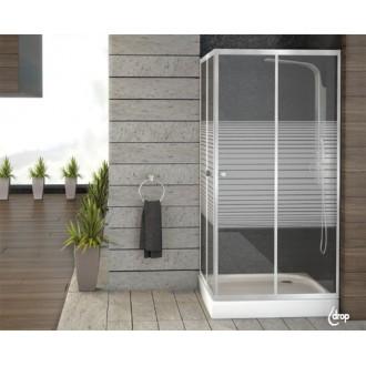 Μπανιο - Καμπίνες Μπάνιου - Διαχωριστικά Μπανιέρας - Καμπίνα Τετράγωνη με Ντουζιέρα Ακρυλική: Drop 80x80x180h |Πρέβεζα - Άρτα - Φιλιππιάδα - Ιωάννινα